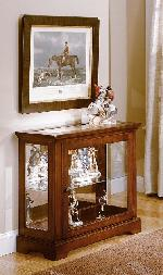 18630 - Console Curio - Brown Cherry